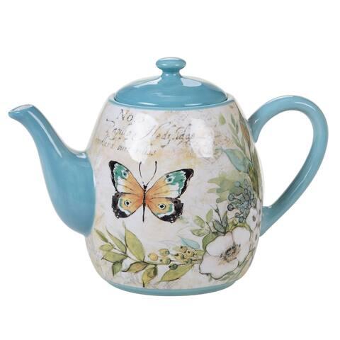 Certified International Nature Garden 40 oz. Teapot
