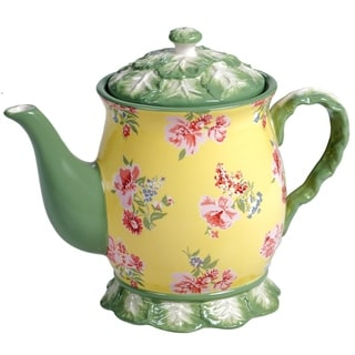 Certified International English Garden Teapot, 38 oz.