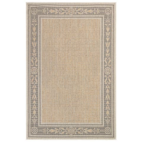 "Liora Manne Carmel Ancient Border Indoor/Outdoor Rug Sand 7'10""X9'10"""