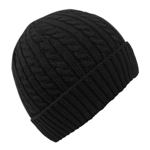 Fashionable Unisex Thick Warm Twisted Cable Knit Beanie Cap Hat