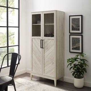 """Link to Strick & Bolton 68"""" Chevron Storage Cabinet Similar Items in Dining Room & Bar Furniture"""