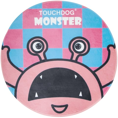 Touchdog Cartoon Up-for-Crabs Monster Rounded Cat and Dog Mat - One Size