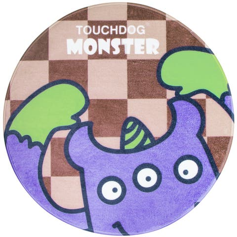 Touchdog Cartoon Three-eyed Monster Rounded Cat and Dog Mat - One Size