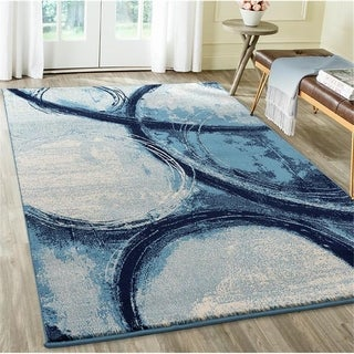 Luxe Weavers Howell Collection Abstract Denim Area Rug