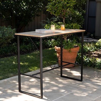 Venmore Natural Wood Indoor/Outdoor Pub Table by Havenside Home