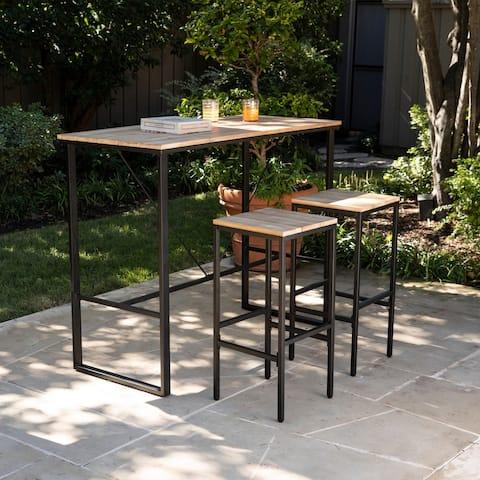 Venmore Indoor/Outdoor Space Saving Bar Set (Set of 3)