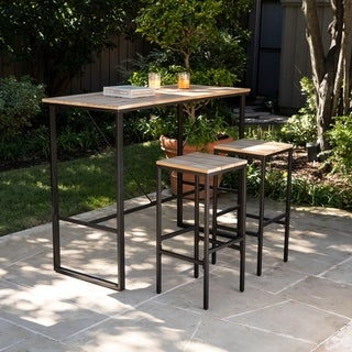 Link to Venmore Indoor/Outdoor Space Saving Bar Set (Set of 3) by Havenside Home Similar Items in Outdoor Dining Sets