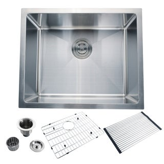 "CB HOME 22"" Drop-in Single Bowl 16-G Stainless Steel Kitchen Sink Set"