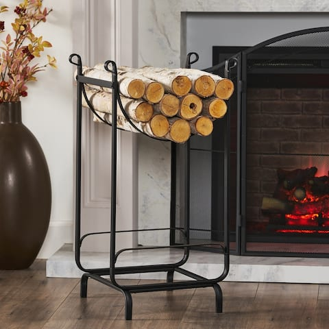 """Boyer Traditional Log Rack by Christopher Knight Home - 15.00"""" D x 17.00"""" W x 30.00"""" H"""