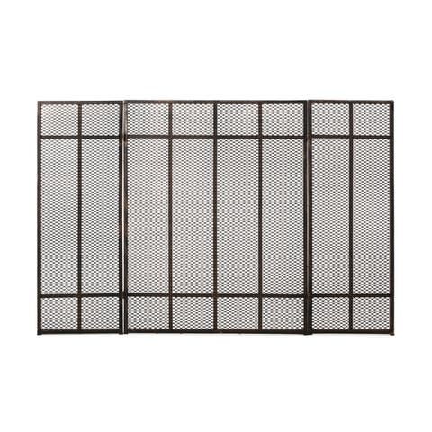 """Capaum Modern Iron Fireplace Screen by Christopher Knight Home - 30.00"""" H x 45.50"""" W x 1.25"""" D"""