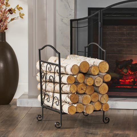 """Brantpoint Traditional Log Rack by Christopher Knight Home - 16.50"""" D x 12.25"""" W x 22.00"""" H"""
