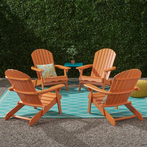 Malibu Outdoor Acacia Wood Adirondack Chair (Set of 4) by Christopher Knight Home