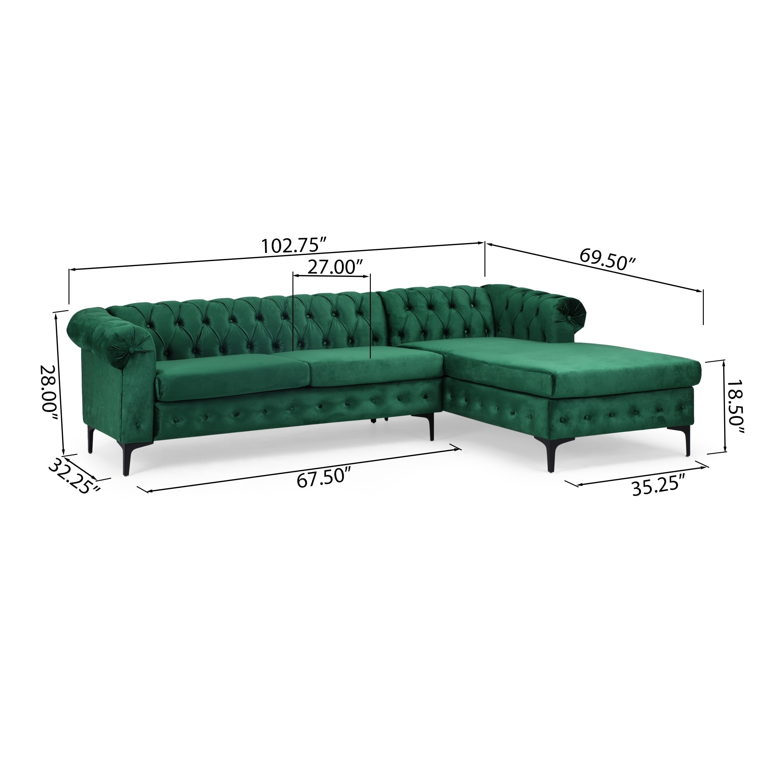 Shop Black Friday Deals On Burland Contemporary 3 Seater Sectional Sofa With Chaise Lounge By Christopher Knight Home Overstock 30682708