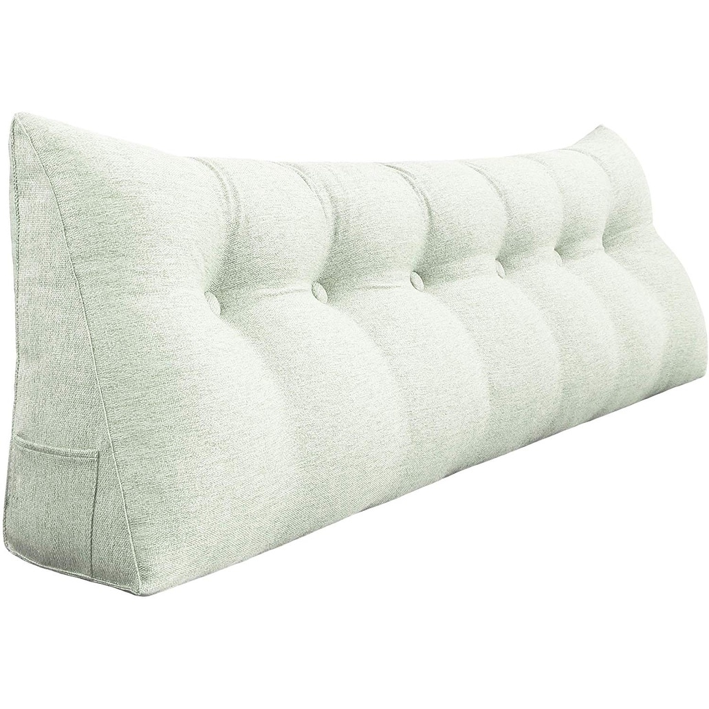 - Shop WOWMAX Bed Wedge Bolster Pillow Headboard Backrest Daybed