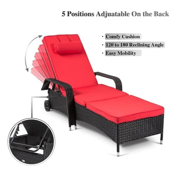 Kinbor Patio Chaise Lounge Outdor