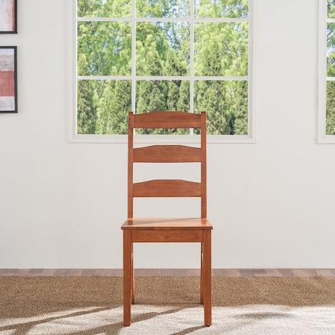 Elsmere Ladder Indoor Wood Dining Chair (Set of 2)