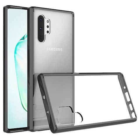 Insten Bumper Premium Slim Hard Plastic TPU Cover Case For Samsung Galaxy Note 10 Plus - Clear/Black