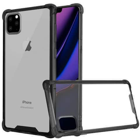 Insten Bumper Hard Shockproof Plastic TPU Cover Case For Apple iPhone 11 Pro Max - Clear/Black