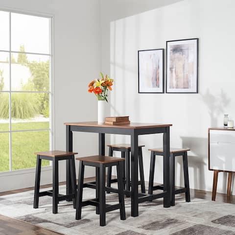 Brighton Indoor Counter Height 5-Piece Wood Dining Set
