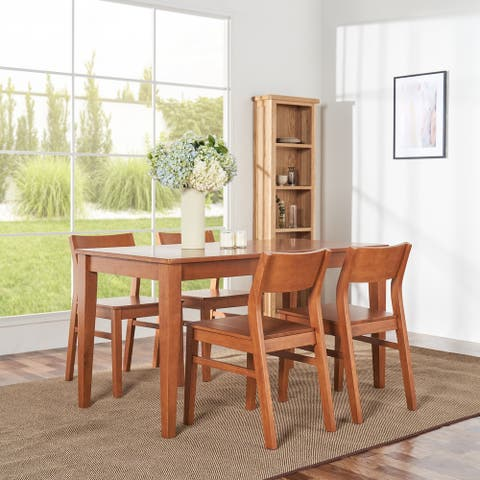 Elsmere Indoor 5-Piece Wood Curve Chair Dining Set