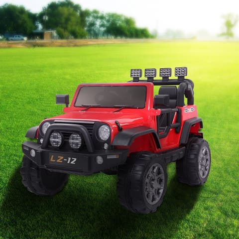 12V Kids Ride On Car Toy Jeep Rechargeable Battery Remote Control Red