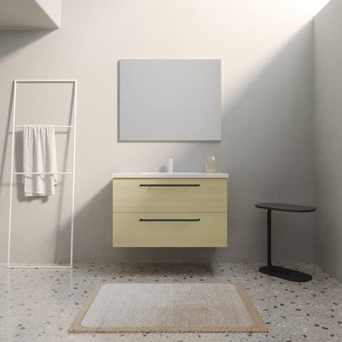 "32"" Maine Modern Bathroom Vanity Cabinet Set, American White Wood looking Finish"