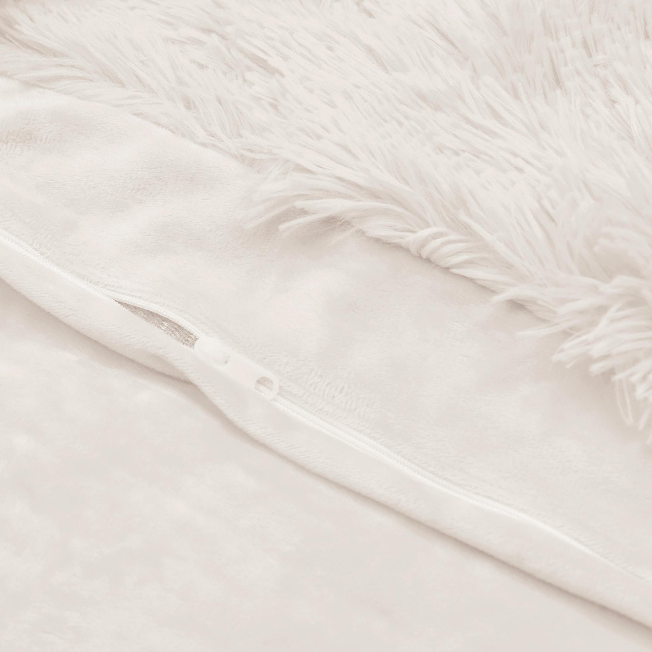 Sweet Jojo Designs White Boho Faux Fur 3pc Queen Size Duvet Comforter Cover Bedding Set Fuzzy Plush Shaggy Fluffy Luxury Teen Overstock 30687135