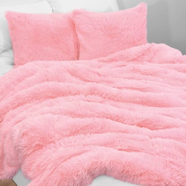Shop Sweet Jojo Designs Pink Boho Faux Fur 2pc Twin Size Duvet