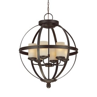 Link to Sea Gull Sfera Autumn Bronze 6-light Chandelier Similar Items in Chandeliers