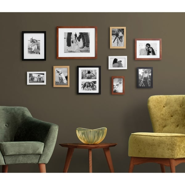 Kate and Laurel Gallery Wood Wall Frame Set. Opens flyout.