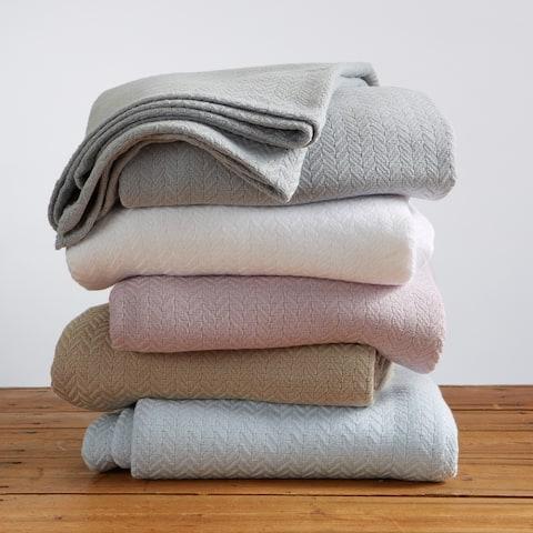 Aurelie Collection 100% Cotton Textured Blanket