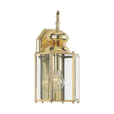 Sea Gull Classico Polished Brass 1-light Outdoor Wall Lantern