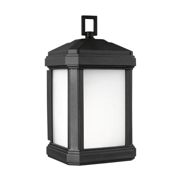 Sea Gull Gaelan Black Small 1 Light Outdoor Wall Lantern Overstock 30687405