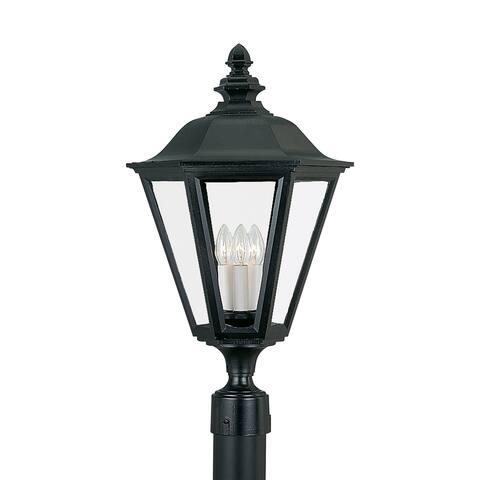 Sea Gull Brentwood Black 3-light Outdoor Post Lantern