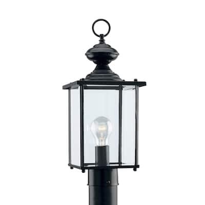 Sea Gull Jamestowne Black 1-light Outdoor Post Lantern
