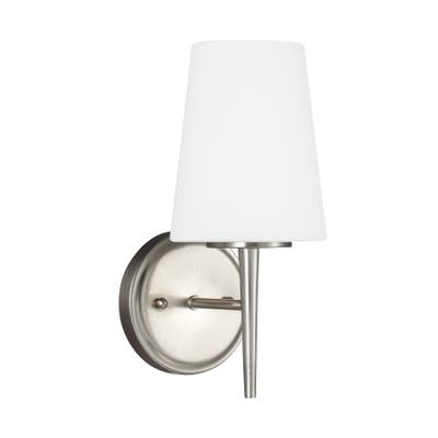 Sea Gull Driscoll Brushed Nickel 1-light Wall/Bath Sconce