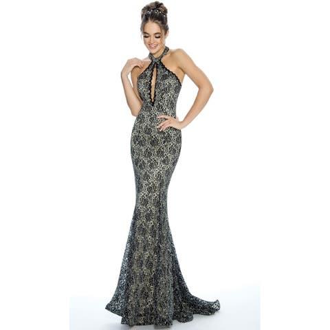 Stella Couture Elegant Prom Halter Dress