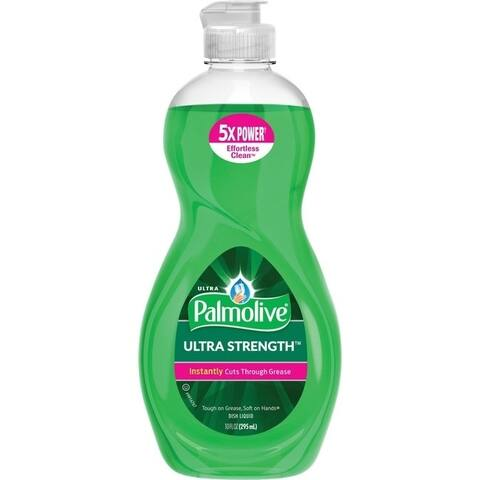 Palmolive Ultra Strength Liquid Dish Soap - Concentrate Liquid - 10 fl oz - 1 Each - Green