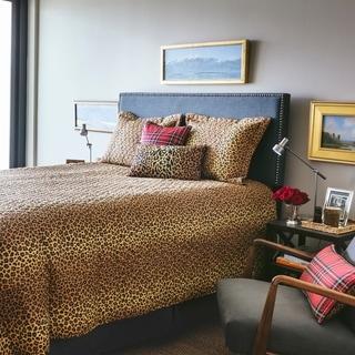 RSVP Home By Steven Stolman Leopard Poly Velvet Lumbar Throw Pillow