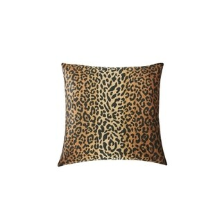 RSVP Home By Steven Stolman Tartan Plaid & Leopard Cotton Reversible 18 x 18 Throw Pillow