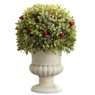 "Link to 11"" Boxwood Ball Topiary Similar Items in Decorative Accessories"