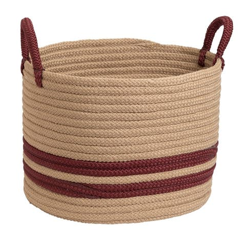 Colonial Mills San Marino Indoor Outdoor Polypropylene Soft Braided Basket