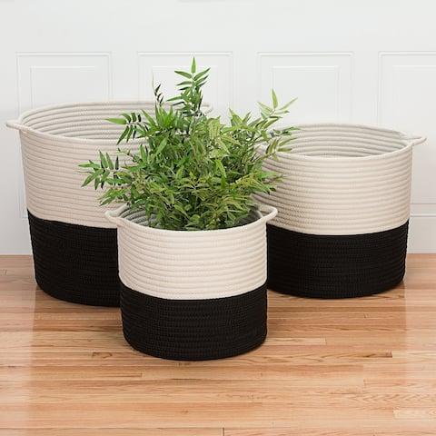 Colonial Mills Craftworks Indoor Outdoor Polypropylene Soft Braided Basket