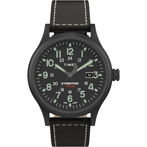 Timex Men's TW4B18500 Expedition Scout Solar 40mm Black Watch