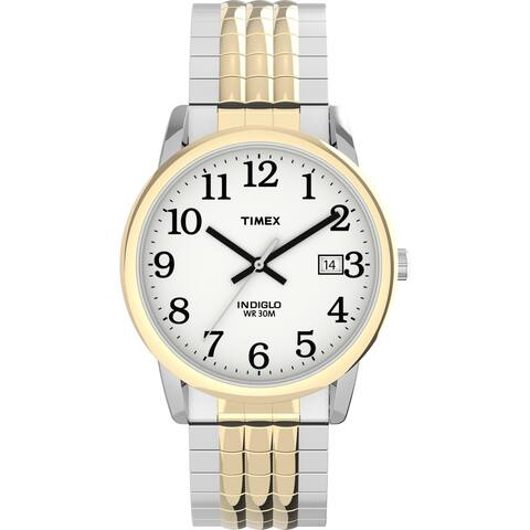 Timex Men's TW2U08900 Easy Reader 35mm Two-Tone Perfect Fit Watch