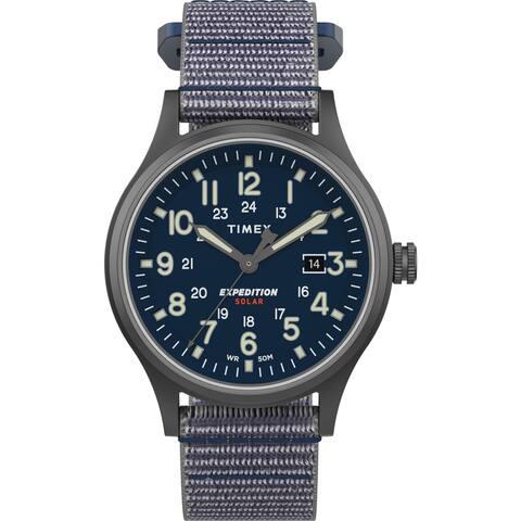 Timex Men's TW4B18700 Expedition Scout Solar 40mm Blue/Gunmetal Watch