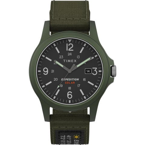 Timex Men's TW4B18800 Expedition Acadia Solar 40mm Green Watch - N/A