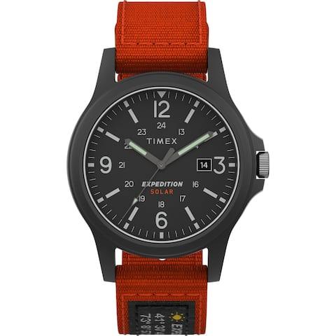 Timex Men's TW4B19000 Expedition Acadia Solar 40mm Orange/Black Watch
