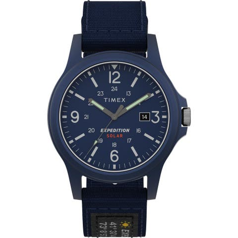 Timex Men's TW4B18900 Expedition Acadia Solar 40mm Blue Watch