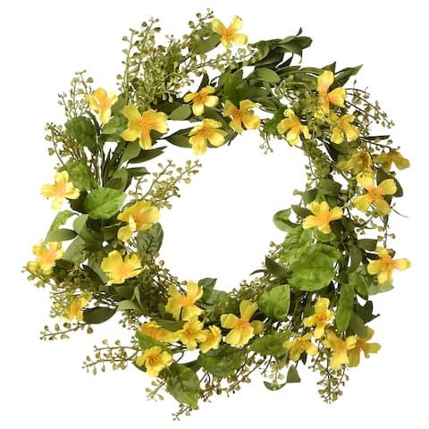 "22"" Cosmos Flowers Wreath"